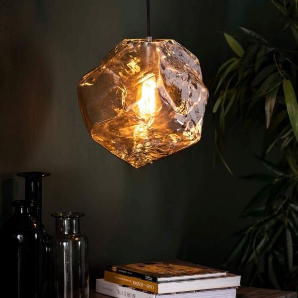 Hängelampe Rocket Cube Glas 1 flmg chromed Deckenleuchte Lampe Hängeleuchte
