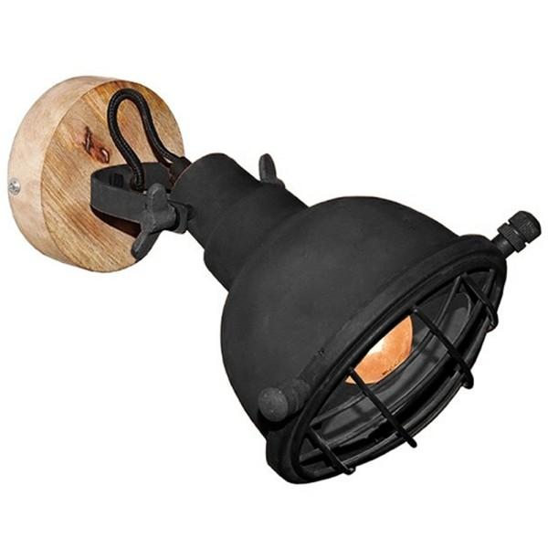 Wandlampe GRID Ø 20 cm Metall schwarz Wandleuchte Lampe Leuchte Beleuchtung