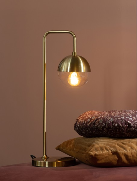 BePureHome Tischlampe 1L Globular H 59 cm Metall antikmessing