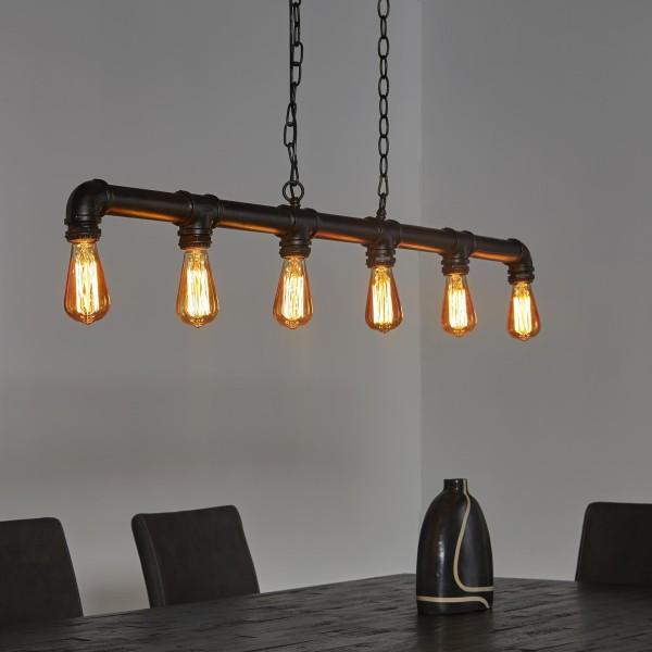 Hängelampe Industrierohr Rohr Fabrik Lampe Pendelleuchte Wasserrohr Metall