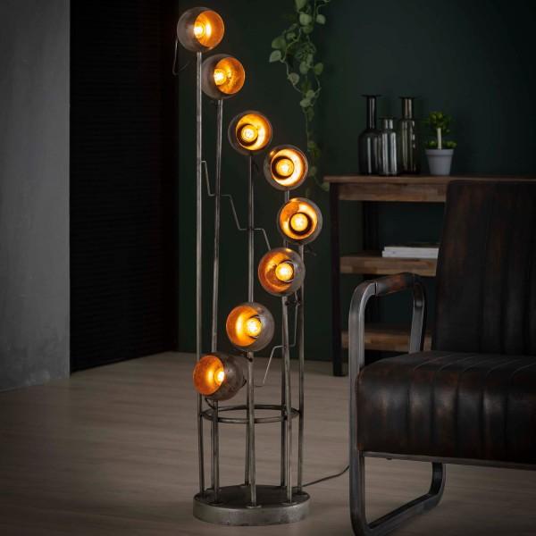 Flurlampe Vintage Spirale H 131 cm Metall altsilber Standleuchte Stehlampe Lampe …