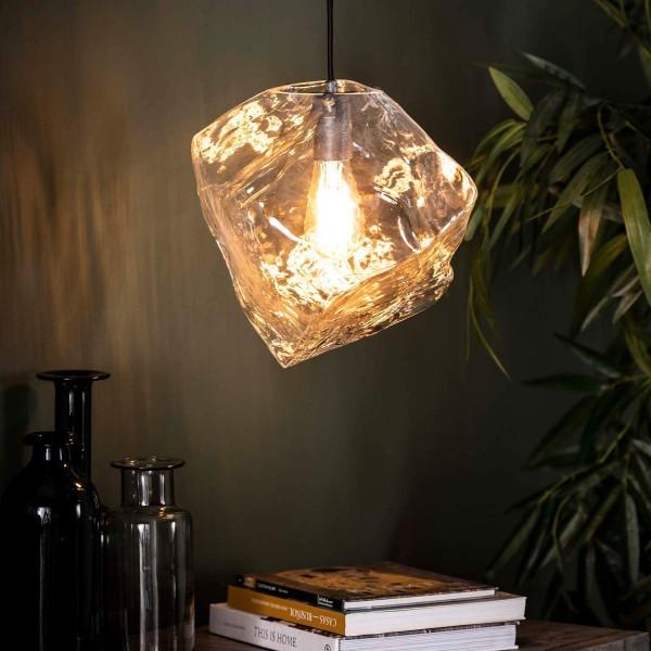 Hängelampe ICE Cube Glas 1 flmg Deckenleuchte Lampe Hängeleuchte Leuchte