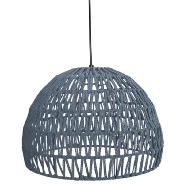 Hängelampe Rope Ø 50 cm Baumwolle grau Hängeleuchte Leuchte Lampe Deckenlampe