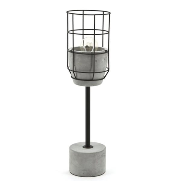 Tischlampe ARA Schreibtisch Lampe Leuchte Tischleuchte Beton grau Metall