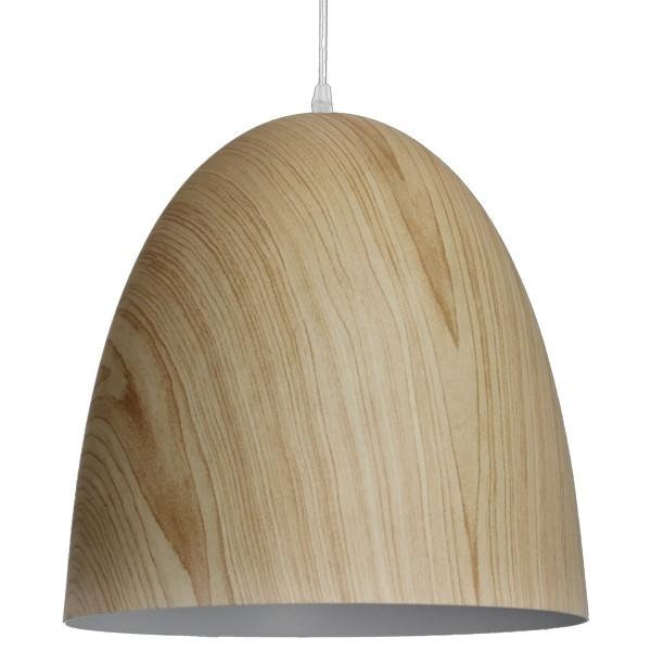 Retro Vintage Hängelampe UOVO Ø 30 cm Metall Holz Hängeleuchte Lampe Deckenlampe