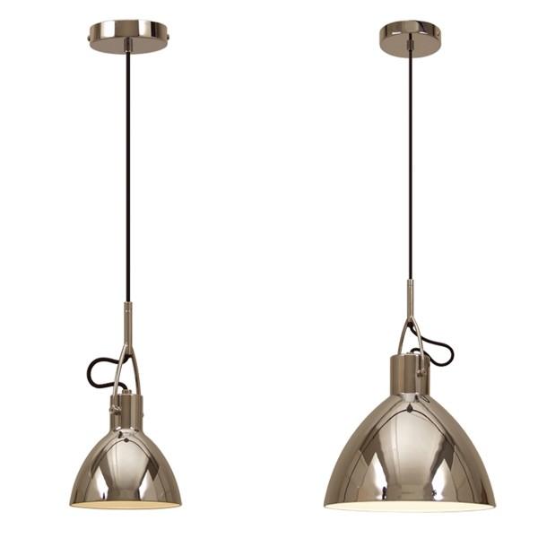 Moderne Hängelampe OAKLEY nickel Metall Hängeleuchte Lampe Deckenlampe Leuchte