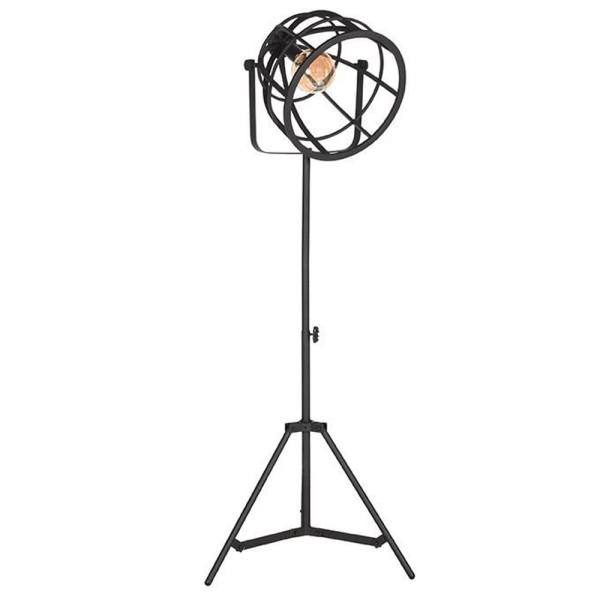 Flurlampe Fuse H 135 bis 170 cm Metall schwarz Standleuchte Stehlampe Lampe
