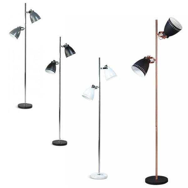 Stehlampe ACATE 2flg H 175 cm Leselampe Standleuchte Standlampe Leuchte Lampe