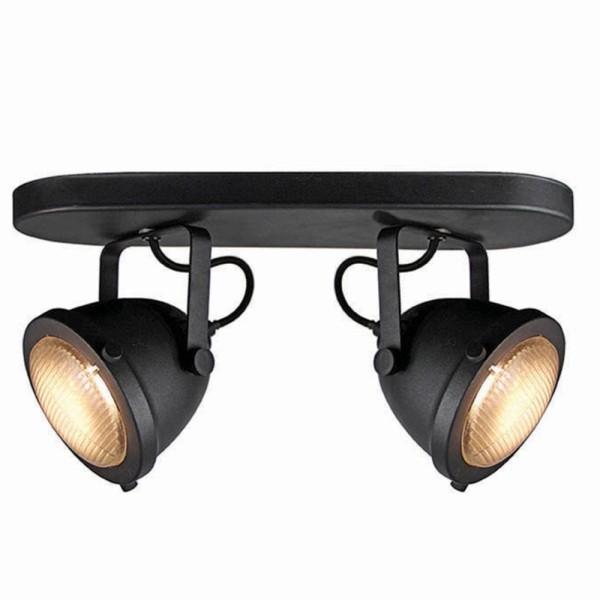 LED Deckenleuchte MOTO 2 flg Metall schwarz Lampe Deckenlampe Deckenbeleuchtung