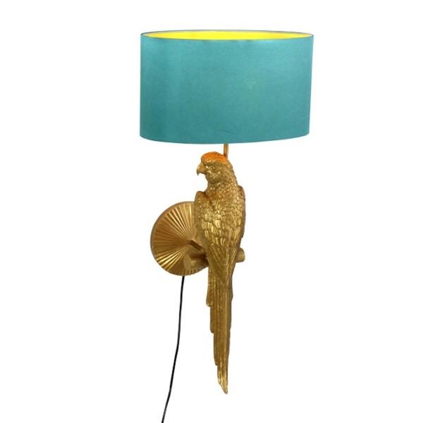 Wandleuchte 1L Percy gold türki H 70 cm Polyresin Wandlampe Lampe Leuchte Beleuchtung