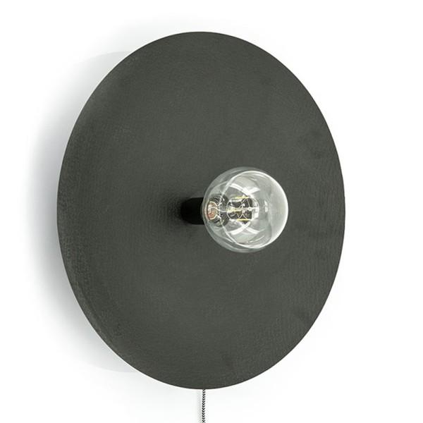 Wandlampe Horus Ø 52 cm Metall schwarz Wandleuchte Lampe Leuchte Beleuchtung