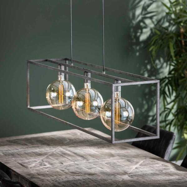Hängelampe Cuadrado 3 flmg Metall alt Silber Deckenleuchte Lampe Hängeleuchte