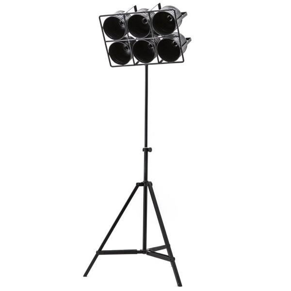 Flutlicht Minack 6 flammig Standleuchte Stehlampe Lampe Metall schwarz-Copy