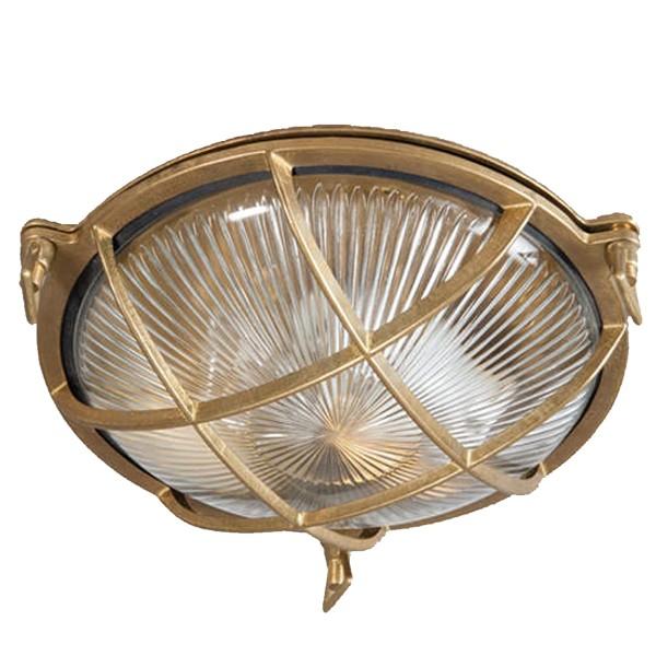 Retro Deckenlampe SOLARO rund Metall Deckenleuchte Lampe Leuchte Wandlampe