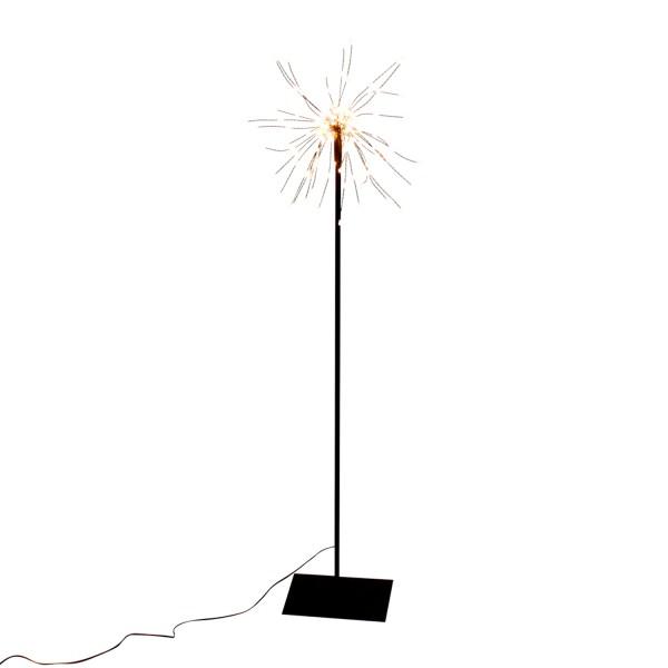 LED Stehlampe Sputnik Black Starburst H 90 cm Standleuchte Stehlampe Lampe