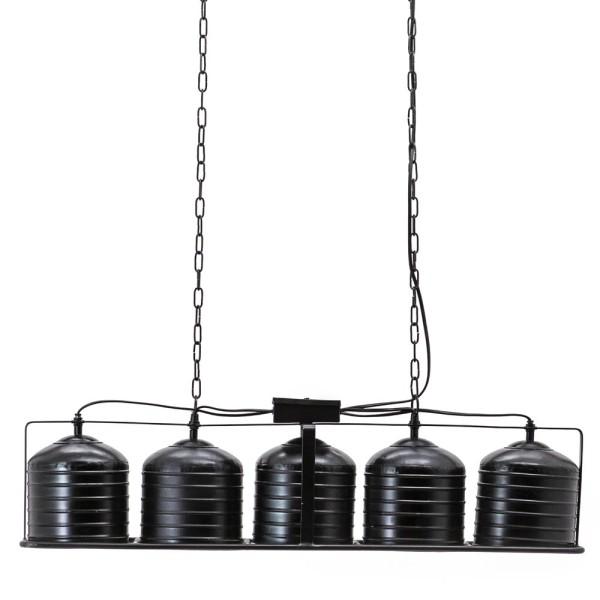 Hängelampe Minack 5 flammig Metall schwarz Hängeleuchte Lampe Deckenlampe