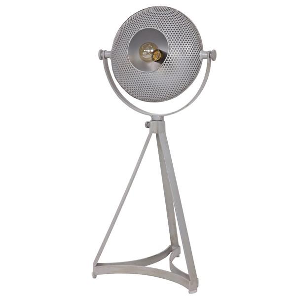 Tischampe BLOWN 79 cm Metall grau Tischleuchte