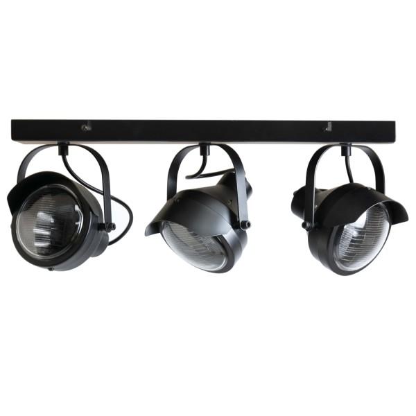 Deckenstrahler Lester 3 flg Metall schwarz Deckenspot Deckenleuchte Deckenlampe