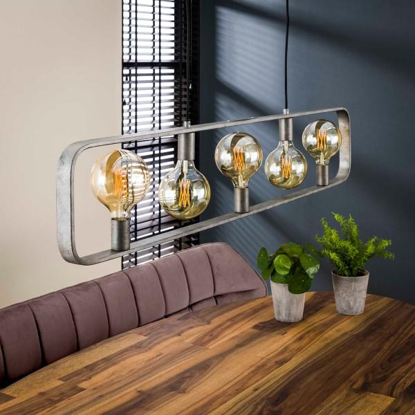 Hängelampe STROP 5 flmg Metall altsilber Finish Lampe Deckenlampe Hängeleuchte