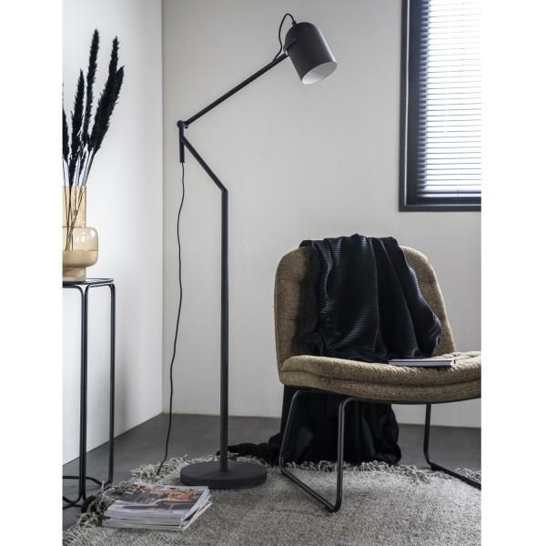 Flurlampe SLEEK 1L H 161 Metall schwarz Standleuchte Stehlampe Lampe
