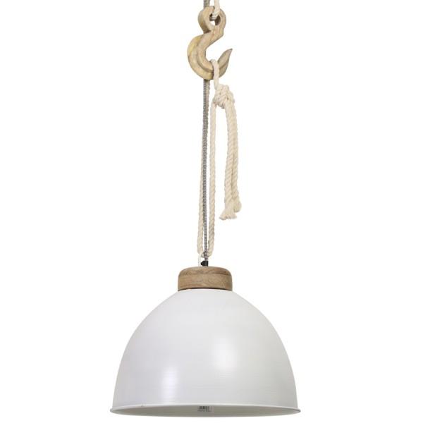 Vintage Hängelampe MELISSA Ø 40 cm Hängeleuchte Lampe Pendelleuchte Holz Metall