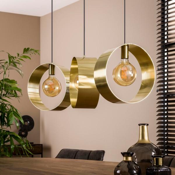 Hängelampe TULIP 3L Metall goldfarben Lampe Deckenlampe Hängeleuchte