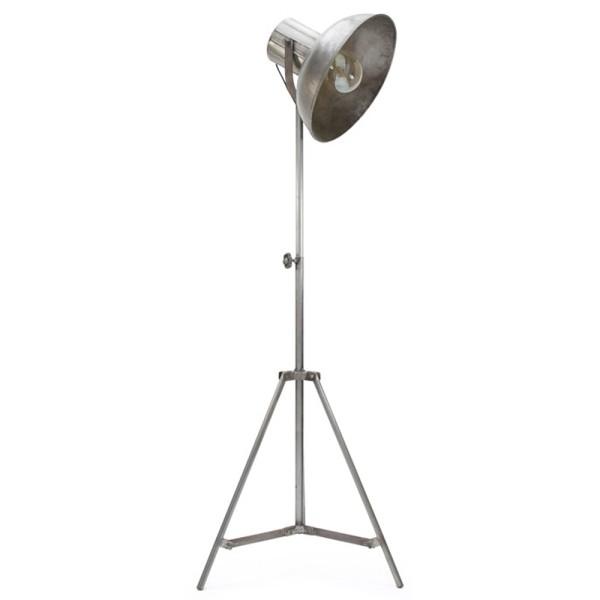 Stehlampe FACTORY Metall silber verstellbar Flurlampe Lampe Leuchte Standleuchte