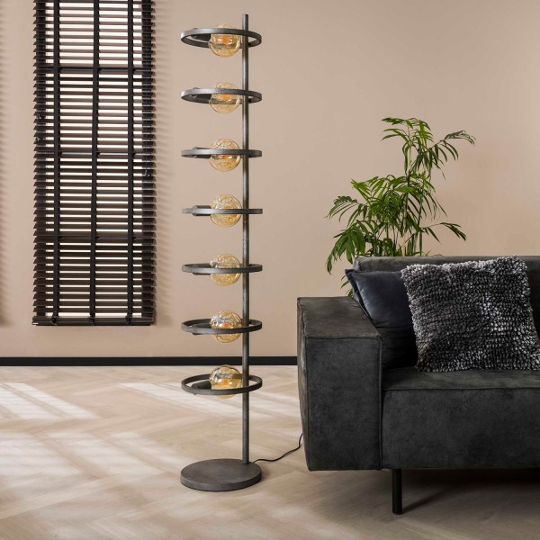 Stehlampe MOCICULAR 7L H 175cm Metall altsilber Standleuchte Lampe