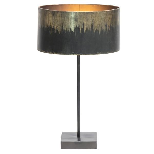 Tischlampe Blackout 1 flmg H 56 cm Metall schwarz antikmessing Tischleuchte