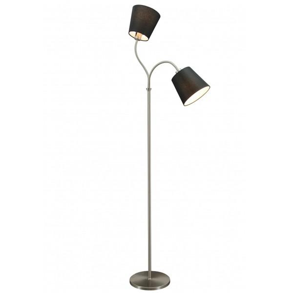 Flurlampe Stehlampe FLEXI 2 flg Stehleuchte Flurleuchte Lampe 140 cm schwarz