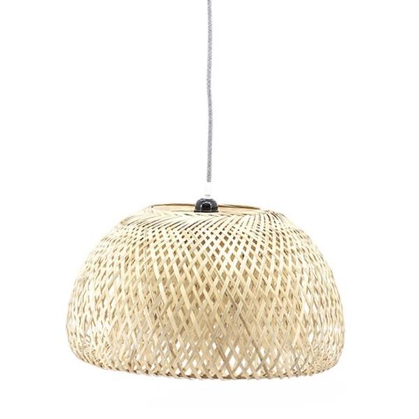 Hängelampe Lilin I Ø 44 cm Bambus beige Deckenleuchte Lampe Hängeleuchte
