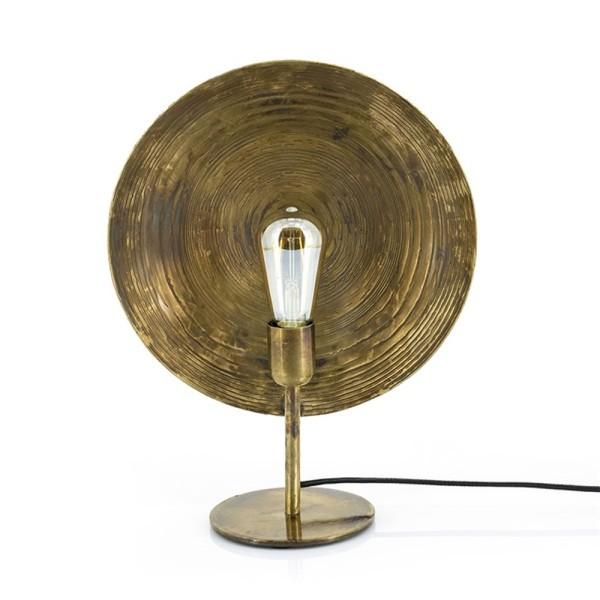 Tischlampe 1L Monque Metall bronzefarben Tischleuchte Lampe Leuchte