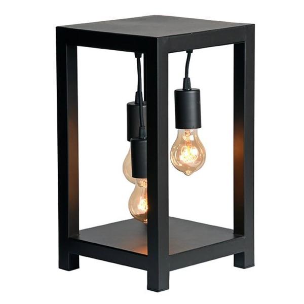 Tischlampe Dangle H 41 cm 3 flmg Metall schwarz Tischleuchte Lampe Leuchte