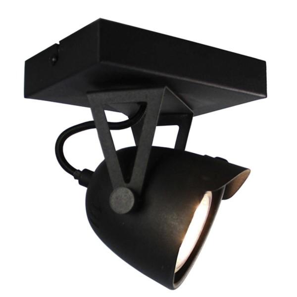 LED Deckenleuchte SPOT 1 flg Metall schwarz Lampe Deckenlampe Deckenbeleuchtung