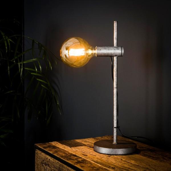 Tischlampe 1L IMOTION H 54 cm Metall altsilber Tischleuchte Lampe Leuchte