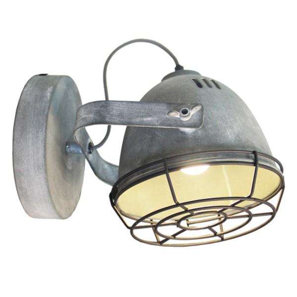 Wandleuchte 1-flg. INDUSTRIA mit Korb Wandlampe Leuchte Flurlampe Lampe beton
