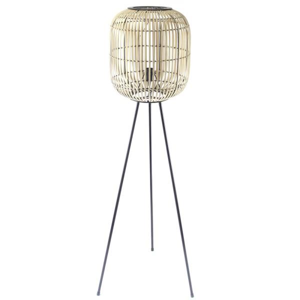 Stehlampe Sunset H 141 cm Bambus beige Flurlampe Lampe Leuchte Standleuchte