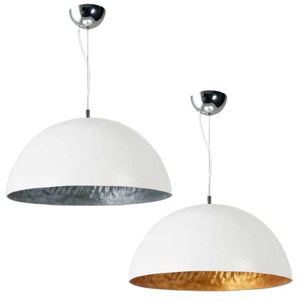 Hängelampe MEZZO TONDO weiß Hängeleuchte Leuchte Lampe Metall Industrielampe