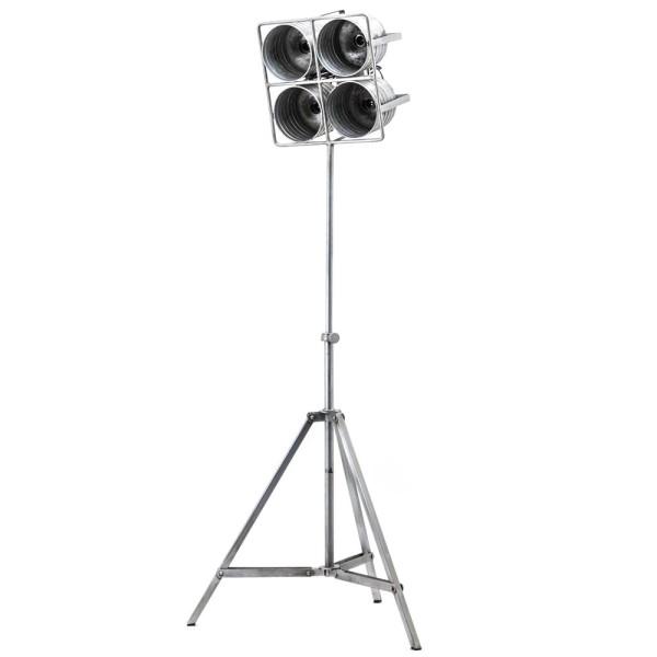 Flutlicht Minack 4 flammig Standleuchte Stehlampe Lampe Metall metallic