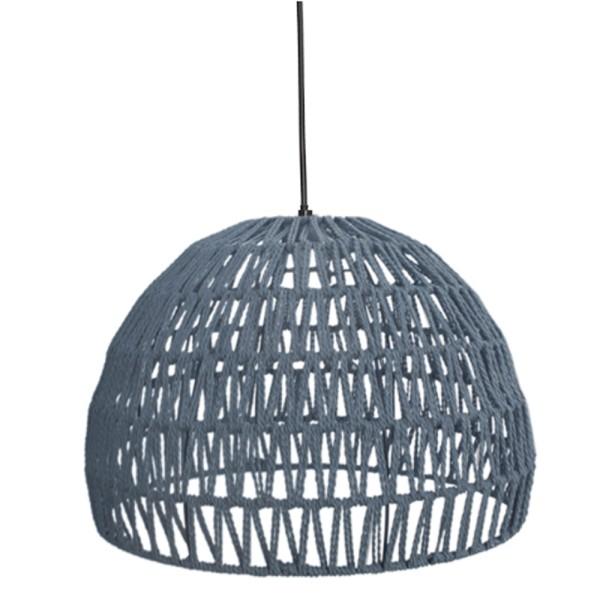 Hängelampe Rope Ø 38 cm Baumwolle grau Hängeleuchte Leuchte Lampe Deckenlampe