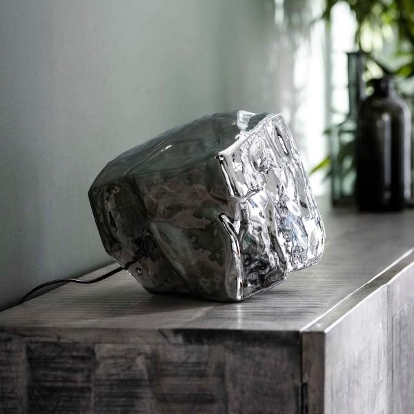 Tischlampe ICE CUBE Glas chromed Eiswürfel Würfel Tischleuchte Lampe Leuchte