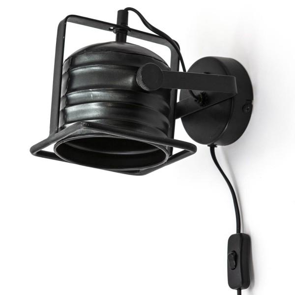 Wandlampe Minack Metall schwarz Wandleuchte Lampe Leuchte Beleuchtung