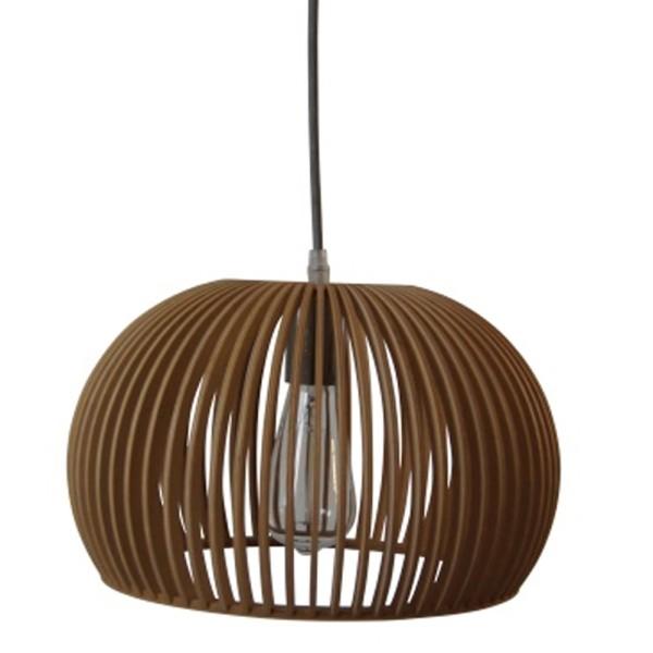 Vintage Hängelampe IVY Ø 45 cm Hängeleuchte Lampe Pendelleuchte Holz braun