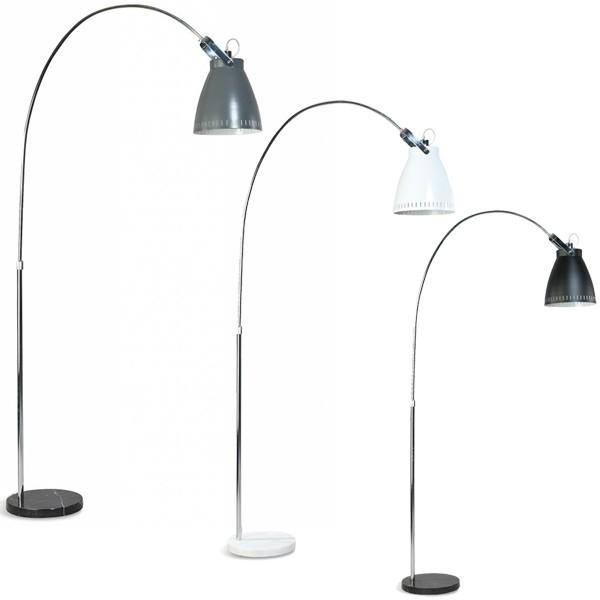Bogenlampe ACATE H 197 cm 1flg Stehlampe Standleuchte Leuchte Lampe Standlampe