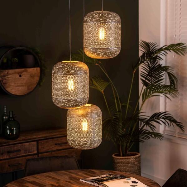 Hängelampe Zetch 3 flmg Metall Deckenleuchte Lampe Hängeleuchte Leuchte