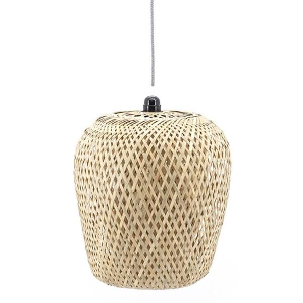 Hängelampe Lilin II Ø 36 cm Bambus beige Deckenleuchte Lampe Hängeleuchte