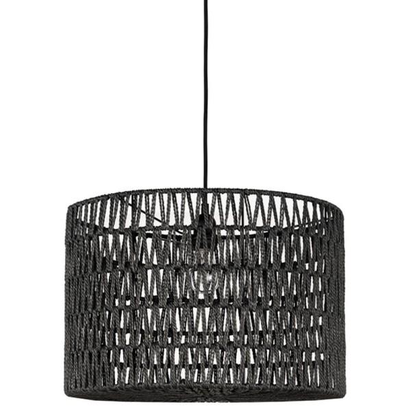 Hängelampe STRIPE Ø 45 cm Baumwolle schwarz Hängeleuchte Lampe Deckenlampe