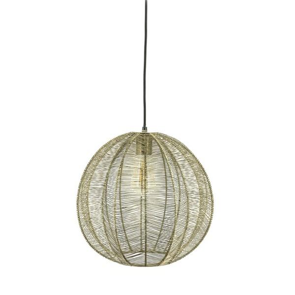 Hängelampe Floss Ø 32 cm 1L Metall bronzefarben Lampe Deckenlampe Hängeleuchte