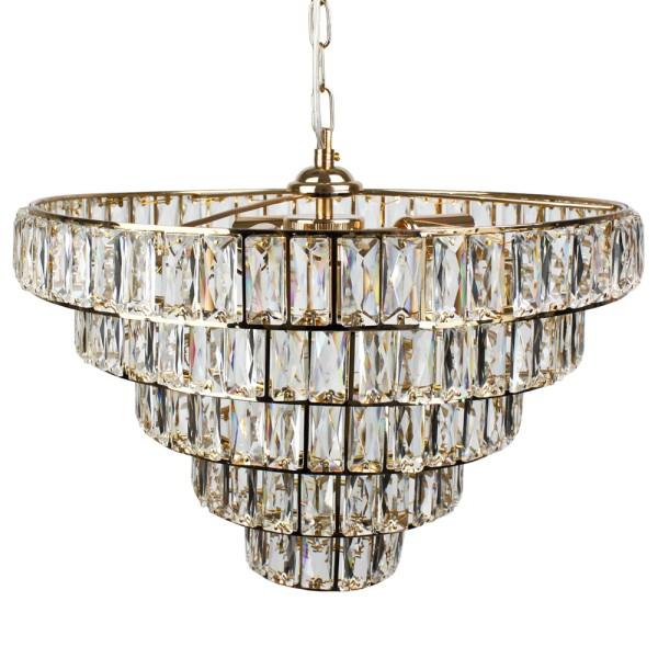 Pendelleuchte Kronleuchter Crystal 4-FLG. Deckenleuchte Deckenlampe Hängeleuchte