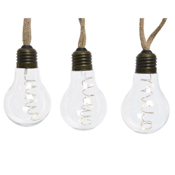 Lichterkette LED 10 Glühlampen 30 LEDs Girlande Micro Glühbirne Glühlampe Lampe